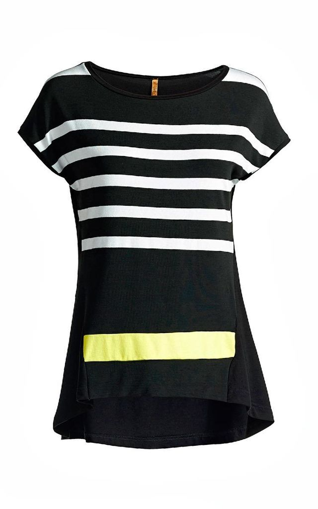 Striped Sleeveless Top by Conquista Fashion