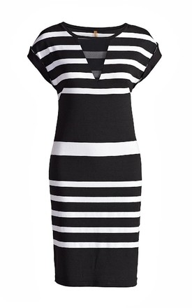 Straight Striped Dress by Conquista Fashion