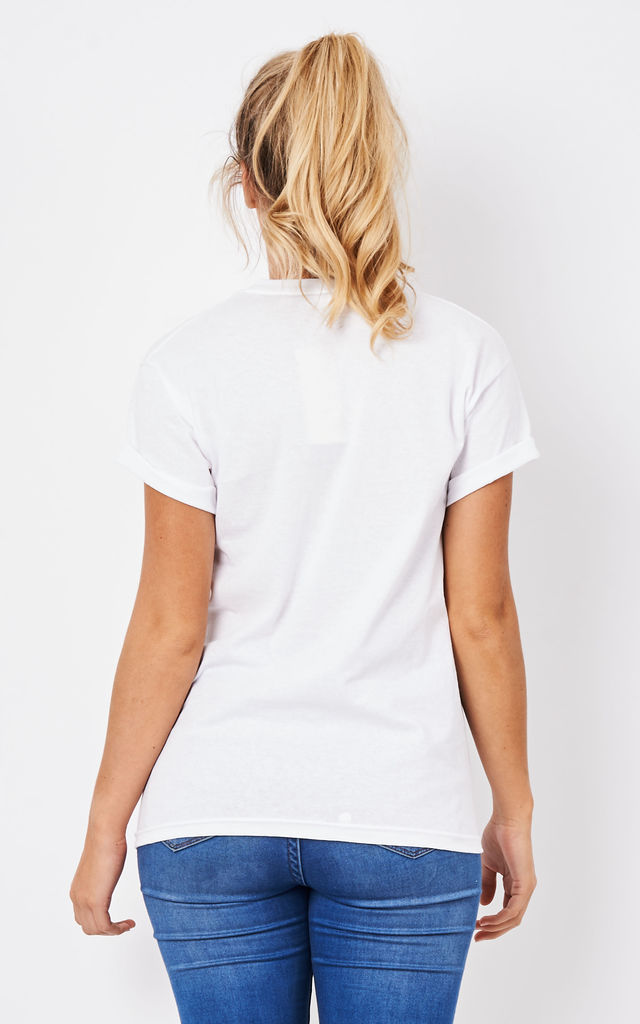 Raised On Champagne T-Shirt White with Black by Love