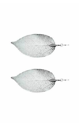 Silver leaf earrings by Nautical and Nice Ltd