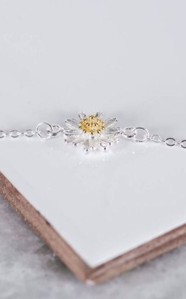 Sterling Silver Daisy Bracelet by Collections by Hayley