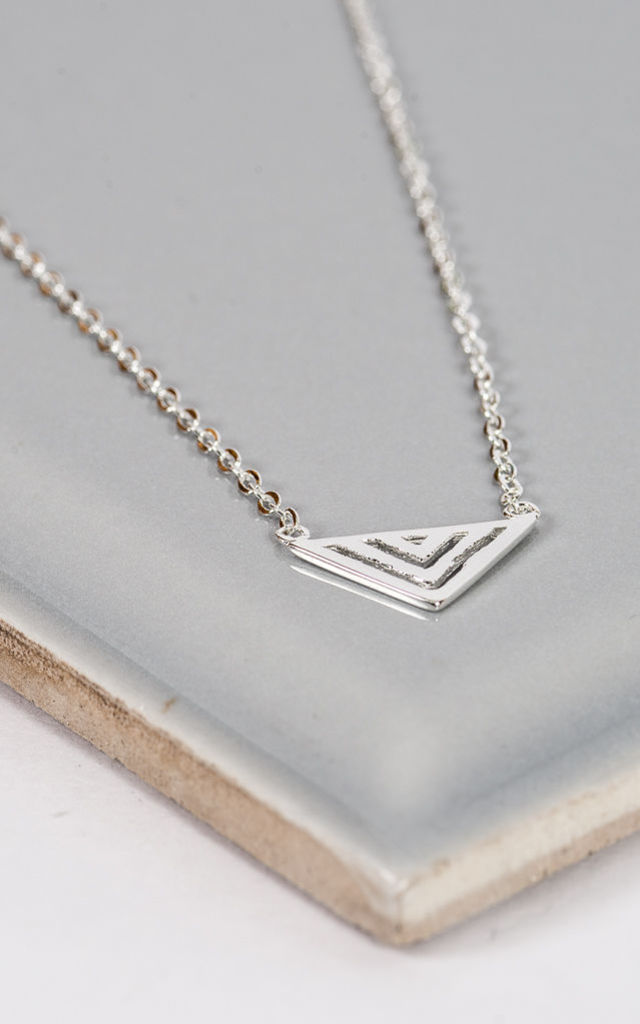 Sterling Silver Aztec Necklace by Collections by Hayley