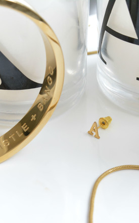 Letter 'A' Gold Stud Earring by Florence London