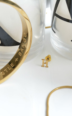 Letter 'H' Gold Stud Earring by Florence London