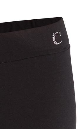 Fitted Jersey Trousers in Black by Conquista Fashion