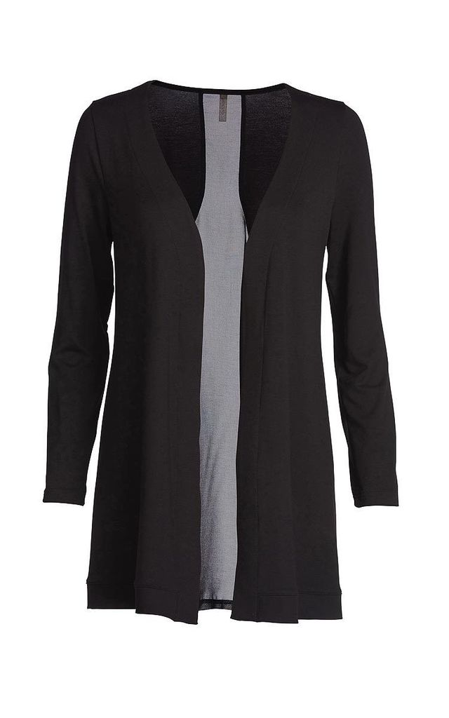 Cardigan with Sheer Back by Conquista Fashion