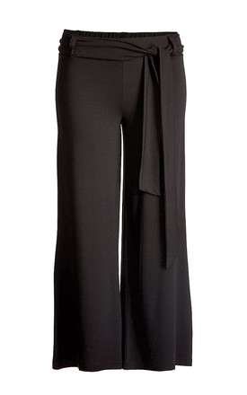 Wide Fit Trousers in Black by Conquista Fashion
