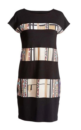 Print Detail Straight Dress by Conquista Fashion