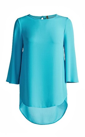 Tunic with Bell Sleeves in Blue by Conquista Fashion