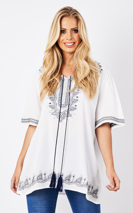 Belle Embroided Tunic Top by BeachHeart