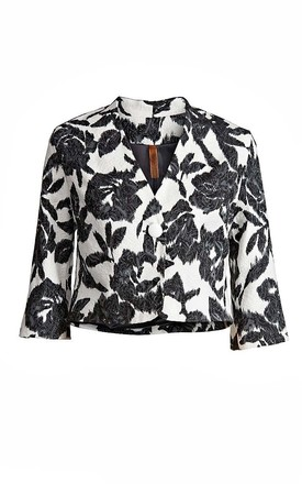 Cropped Brocard Jacket by Conquista Fashion