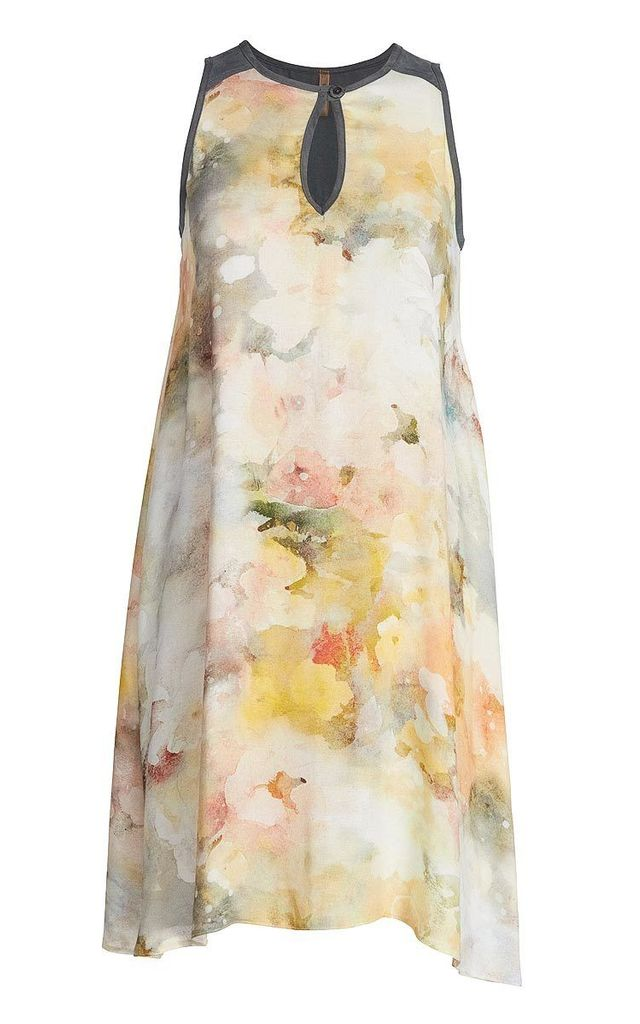 Sleeveless Summer Dress in Neutral Print by Conquista Fashion