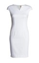 White Sleeveless Dress by Conquista Fashion