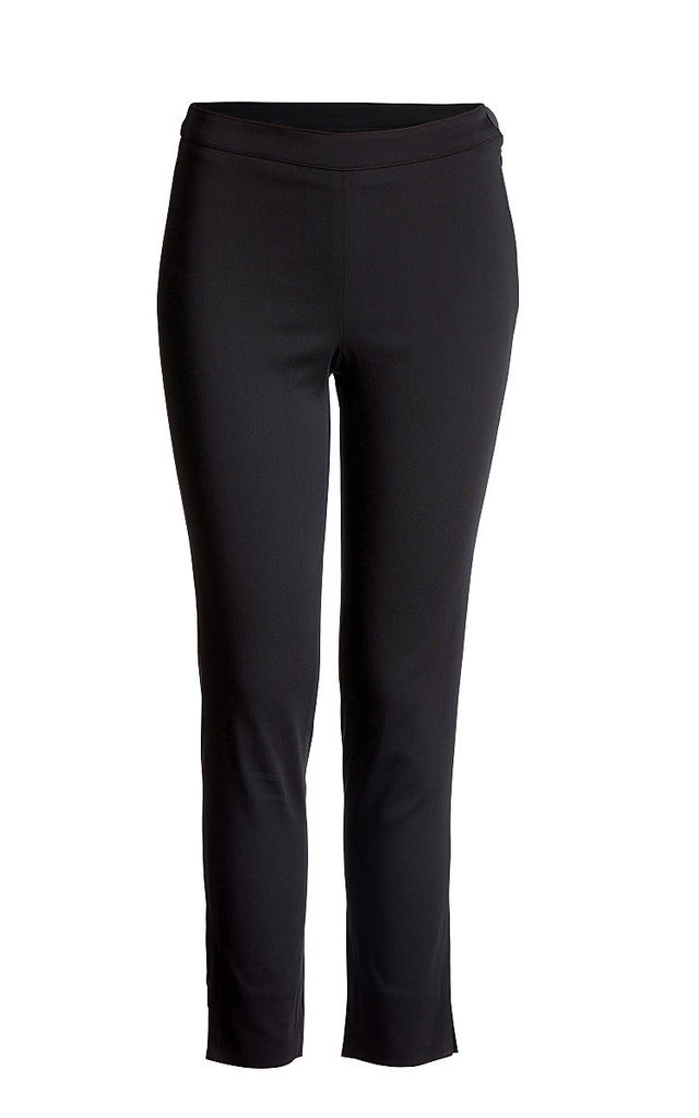 Stretch Fitted Trousers in Black by Conquista Fashion