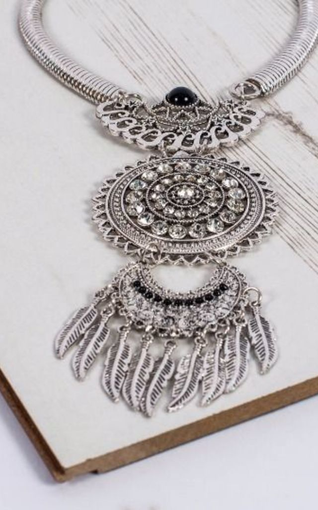 The Bohemian Black Beauty Statement Necklace by Collections by Hayley