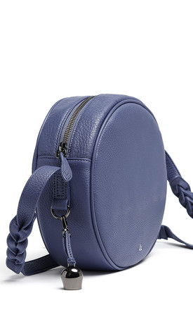 KAIA Leather Canteen Bag in Lupine Blue by bell&fox