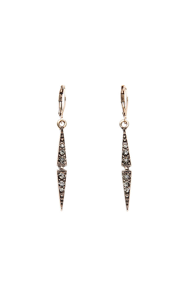 Gold Drop Crystal Earring by LAST TRUE ANGEL