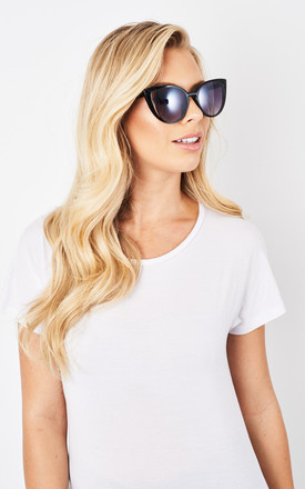 Lena Cat-Eye Black Sunglasses by love frontrow