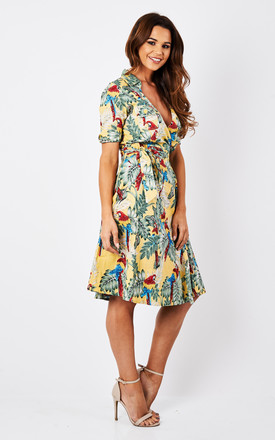 Lost in Paradise Vintage Wrap Dress Gold by Ruby Rocks