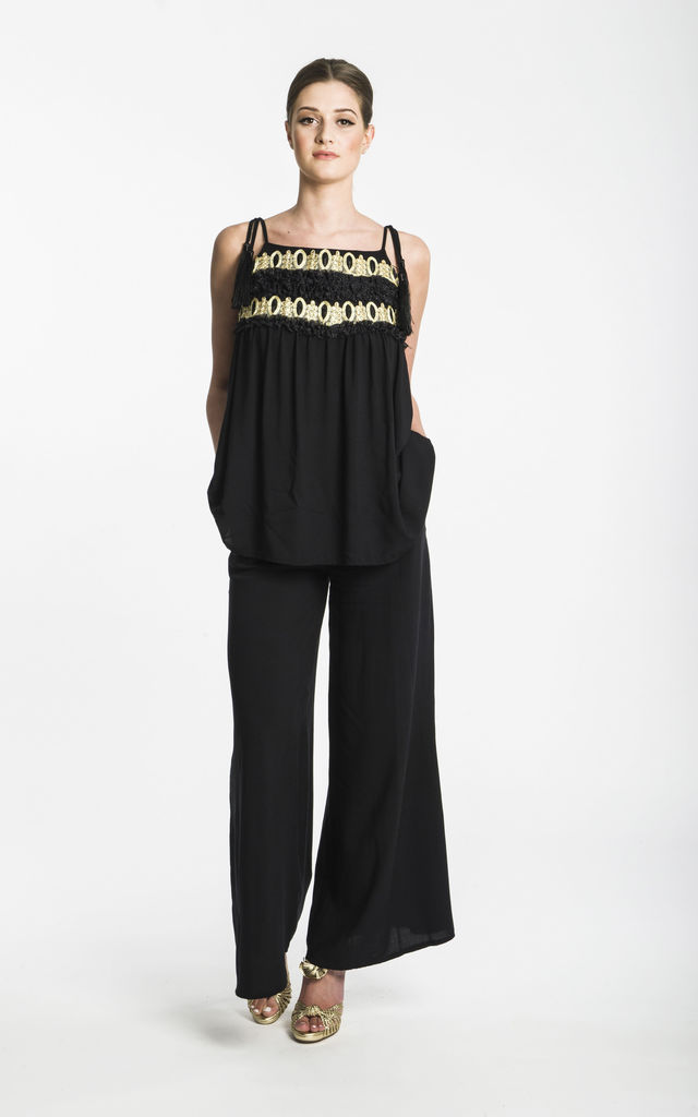 Ray top 1920's Black & Gold with tassel straps by CoCo  VeVe