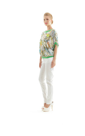 Billowy Floral Print Top by Conquista Fashion