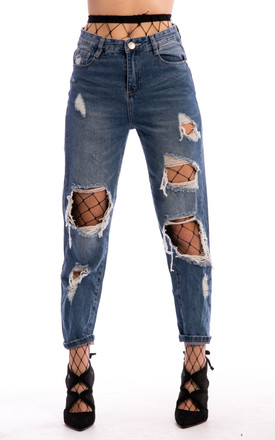 Ripped Denim Jeans - Blue by Npire London