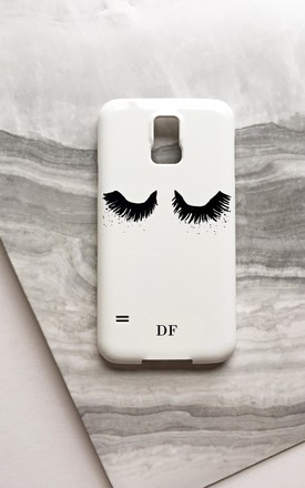 Upper East Eyelash monogram phone case by Rianna Phillips