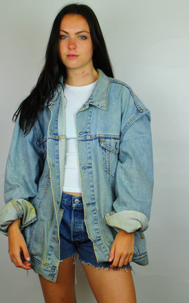 Vintage Levi's -Red Tab- Distressed Oversized Denim Jacket by Re:dream Vintage