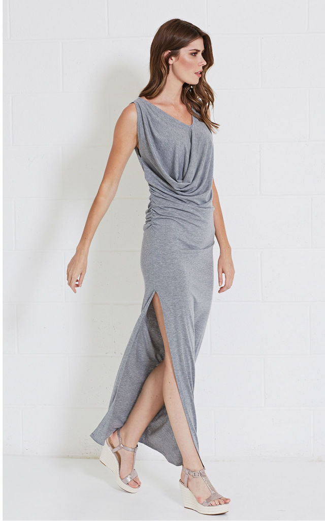LOUIS grey marl jersey maxi dress by Me & Thee