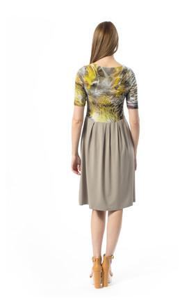Abstract Print Dress by Conquista Fashion