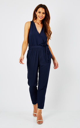 Take Me Out Crossover Jumpsuit Blue by likemary