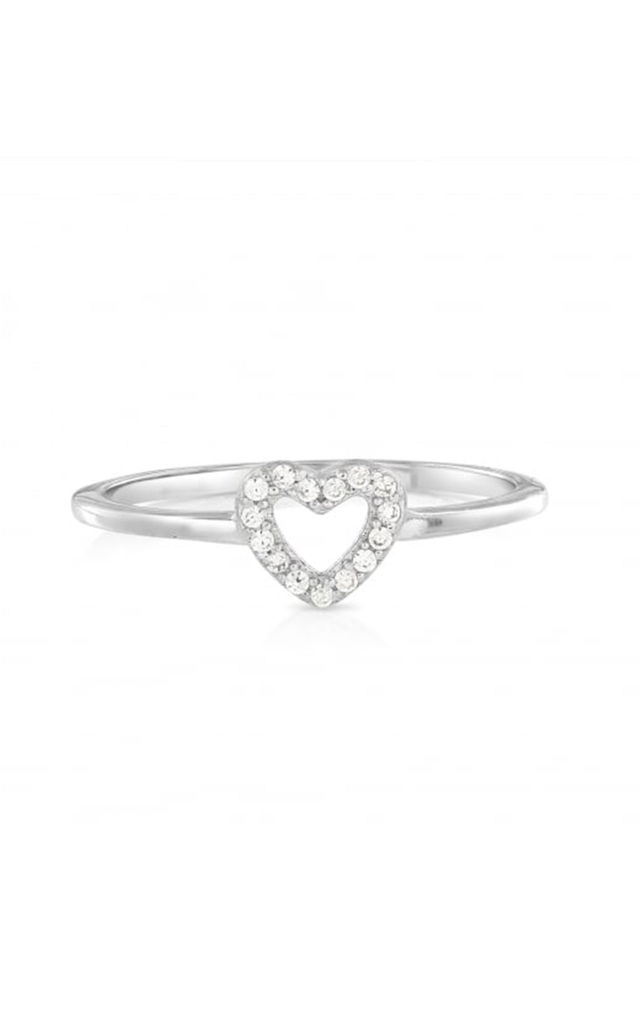 Fine Heart Sterling Silver Ring by Johnny Loves Rosie