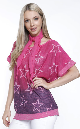 PINK STAR T SHIRT WITH NECK TIE by Aftershock London