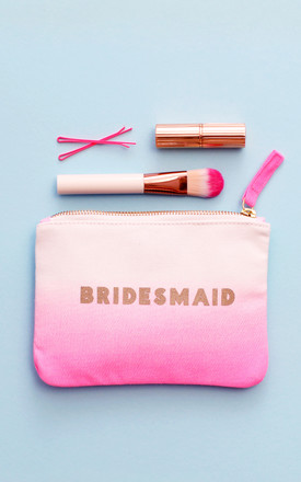 'Bridesmaid' Ombre Wedding Pouch by Alphabet Bags