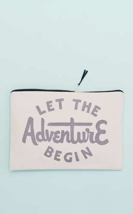 'Let The Adventure Begin' XL Canvas Pouch by Alphabet Bags