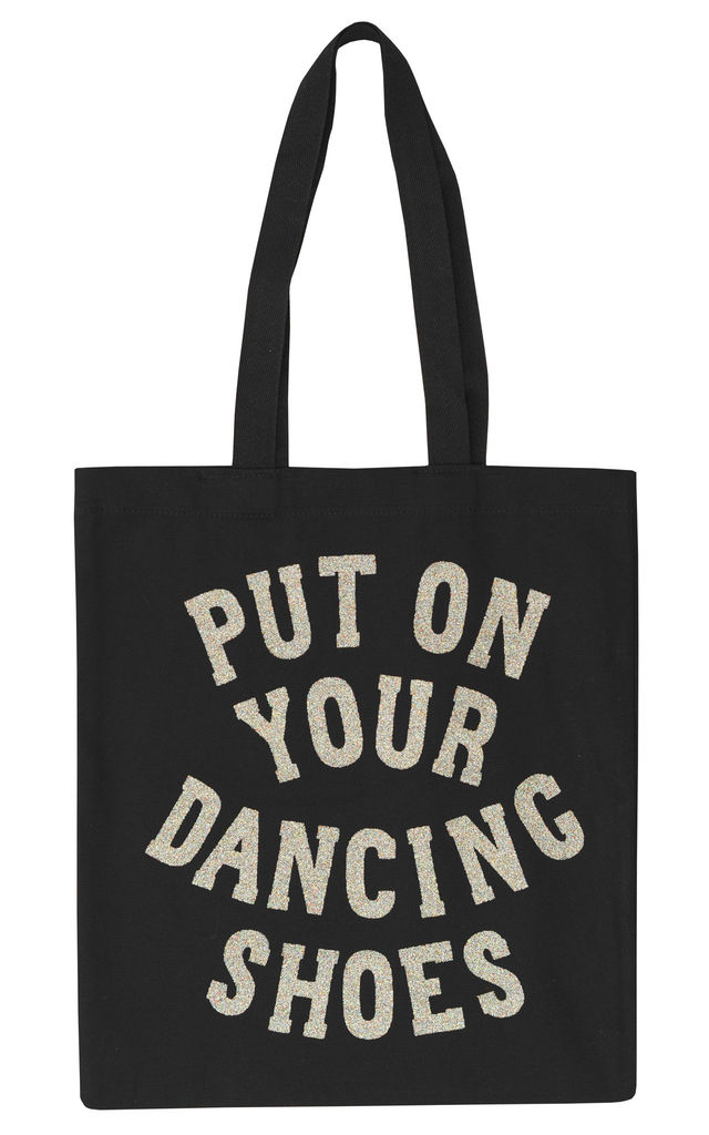 'Put On Your Dancing Shoes' Tote Bag by Alphabet Bags