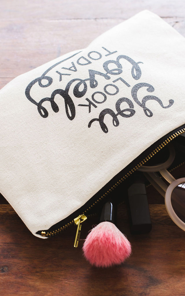 'You Look Lovely Today' Canvas Pouch by Alphabet Bags