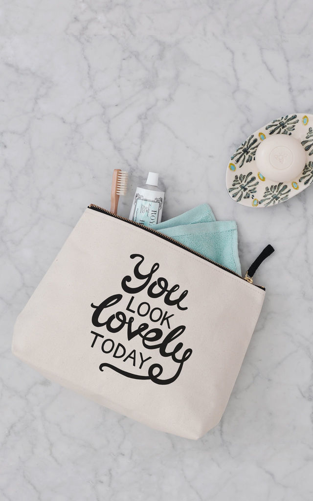 b50c54c7e1 You Look Lovely Today  Toiletry Bag - Alphabet Bags - SilkFred