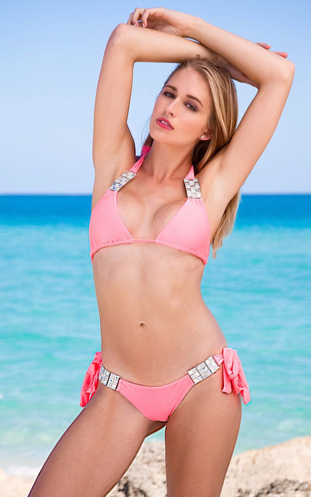 Miss Monroe Pink Bikini Top by SasSea Swimwear