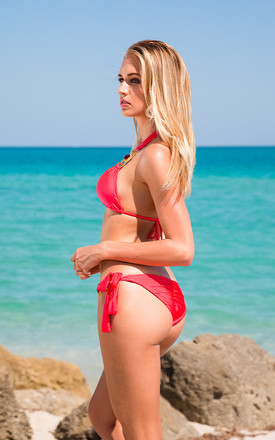 She's A Beauty Red Top by SasSea Swimwear