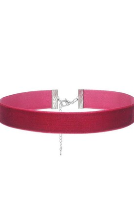 Claret Red Velvet Wide Choker - Necklace by LULU IN THE SKY