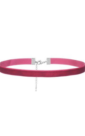 Claret Red Lux Thin Velvet Choker by LULU IN THE SKY