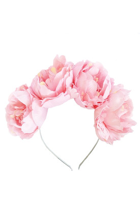 ELLA Pink Peony Flower Crown by LULU IN THE SKY