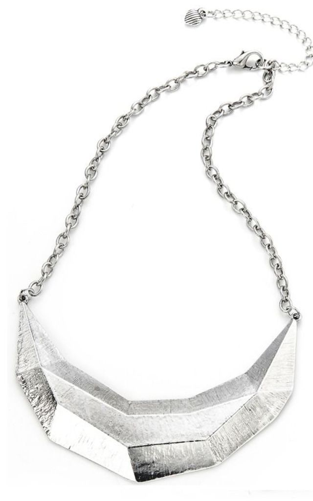 Antique Silver Geometric Collar by Ruby Rocks Accessories