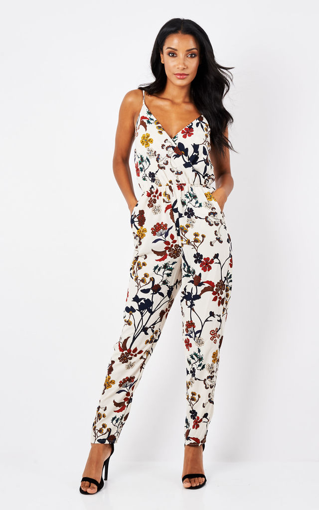 White floral jumpsuit by John Zack