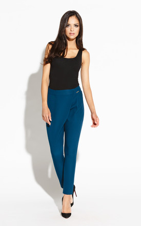 Blue Fashion Trend Carrot Pants by Dursi