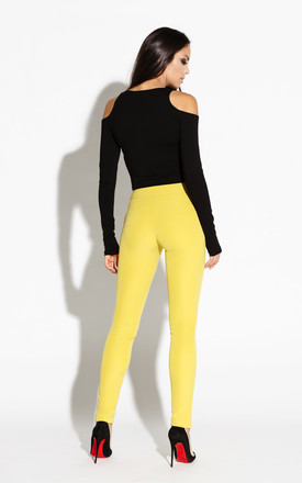 Lime Elastic Waist Pants With Pockets by Dursi