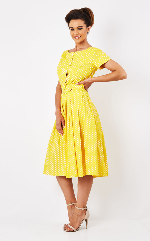 Isabelle - Yellow Polka Dot Dress by Zoe Vine