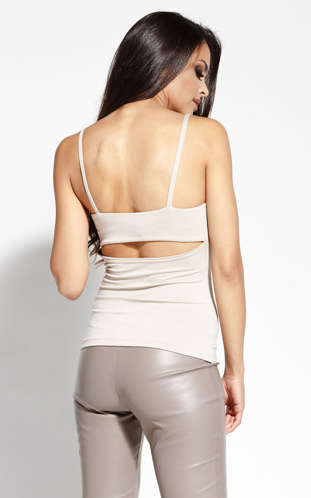 Beige Strappy Top by Dursi