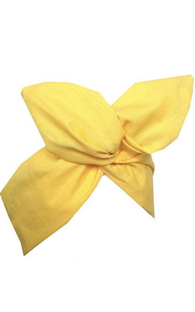 Yellow Wire Headband by LULU IN THE SKY